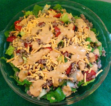 Big Mac Salad w/Dressing